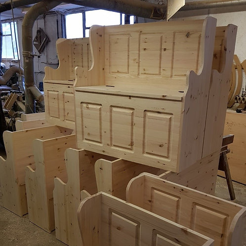 3ft Solid pine monks Bench Unfineshed ready for painting