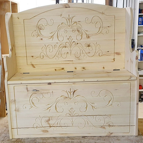 New Design 3ft Solid pine monks Bench Unfineshed ready for painting