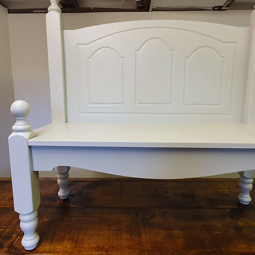 Hand Made Solid Pine painted Bench