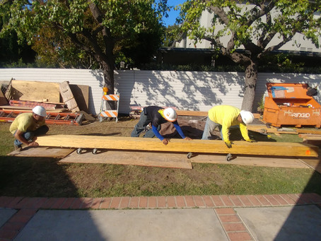 The Sinai Soft Story Retrofit Team in action on another Los Angeles Project.
