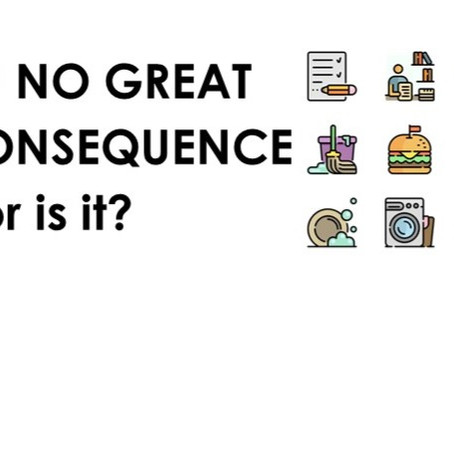 OF NO GREAT CONSEQUENCE – or is it?