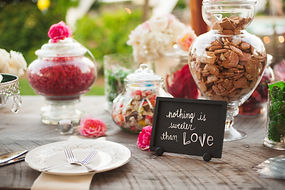 Wright Event Services, Richmond Virginia wedding planner, Wedding coordinator in Virginia, event planner, candy display, dessert table, sweets table, candy, cookie jars, wedding cake, wedding cake display