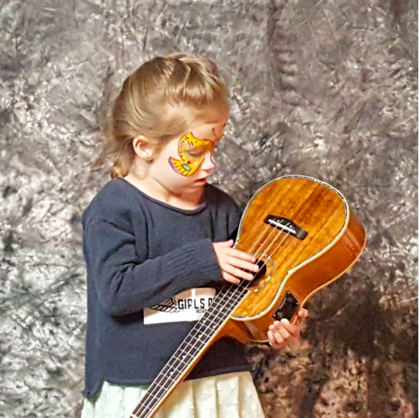 """""""My favorite thing was the face paint.It's a butterfly."""" Ella, age 4"""