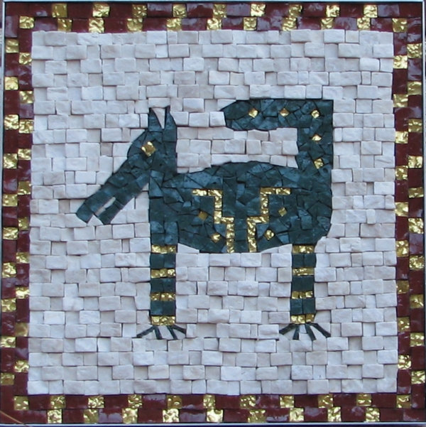 mosaic green dog.jpg