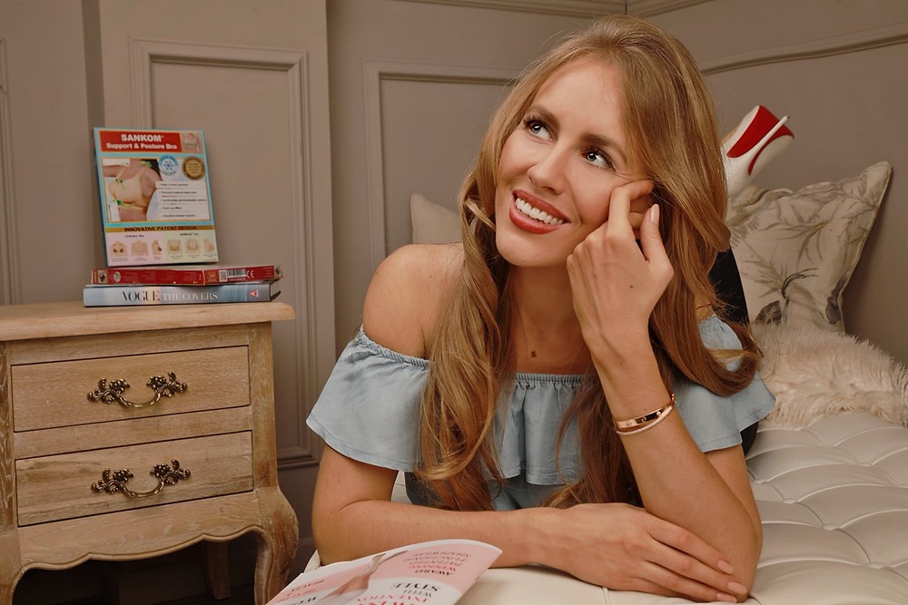 Oksana Mazourik - Swiss TV Host reinvents the Bra!