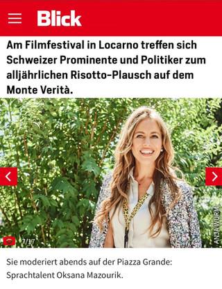 Oksana Mazourik presents New Coming-up Film at Locarno Festival