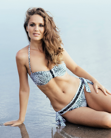 Black and White Leopard Bikini with Crystals