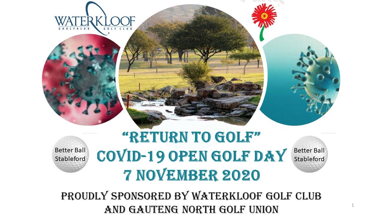 Return to Golf Golf Day Invitation