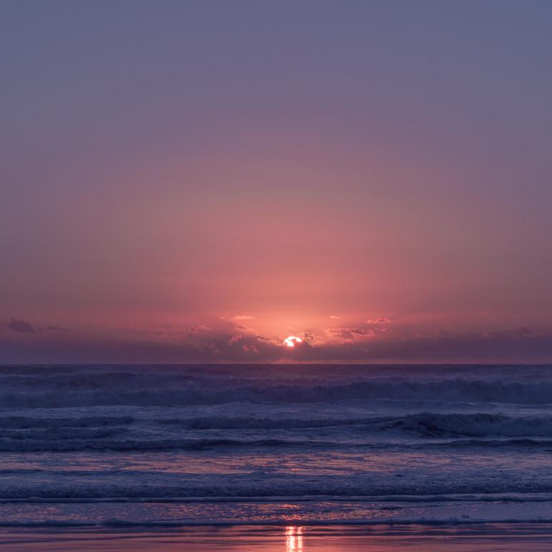 Sunset at Mokau Beach