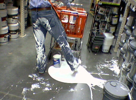 What To Do With Spilt Paint?