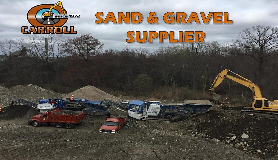 Sand & Gravel Supplier | Carroll Construction | Danbury, Ridgefield - CT 06877