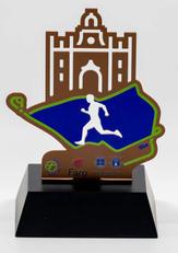 Troféu  Metal corte vazado, cor bronze