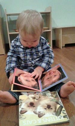 infant reading