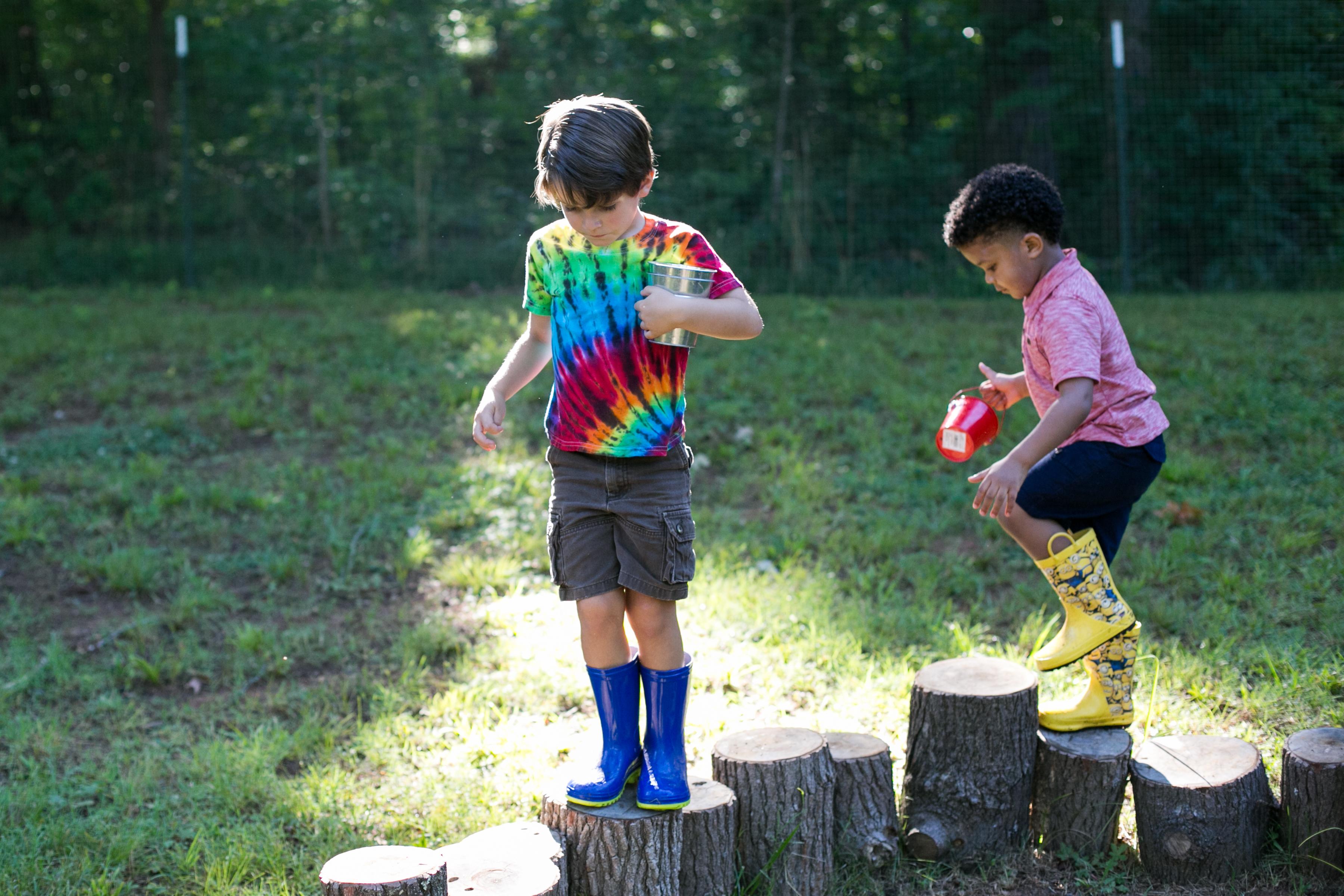 Children balancing