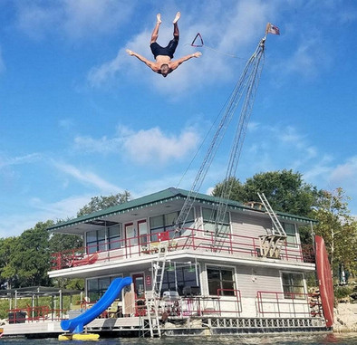 the amazing FloatHouse rope swing from a guest