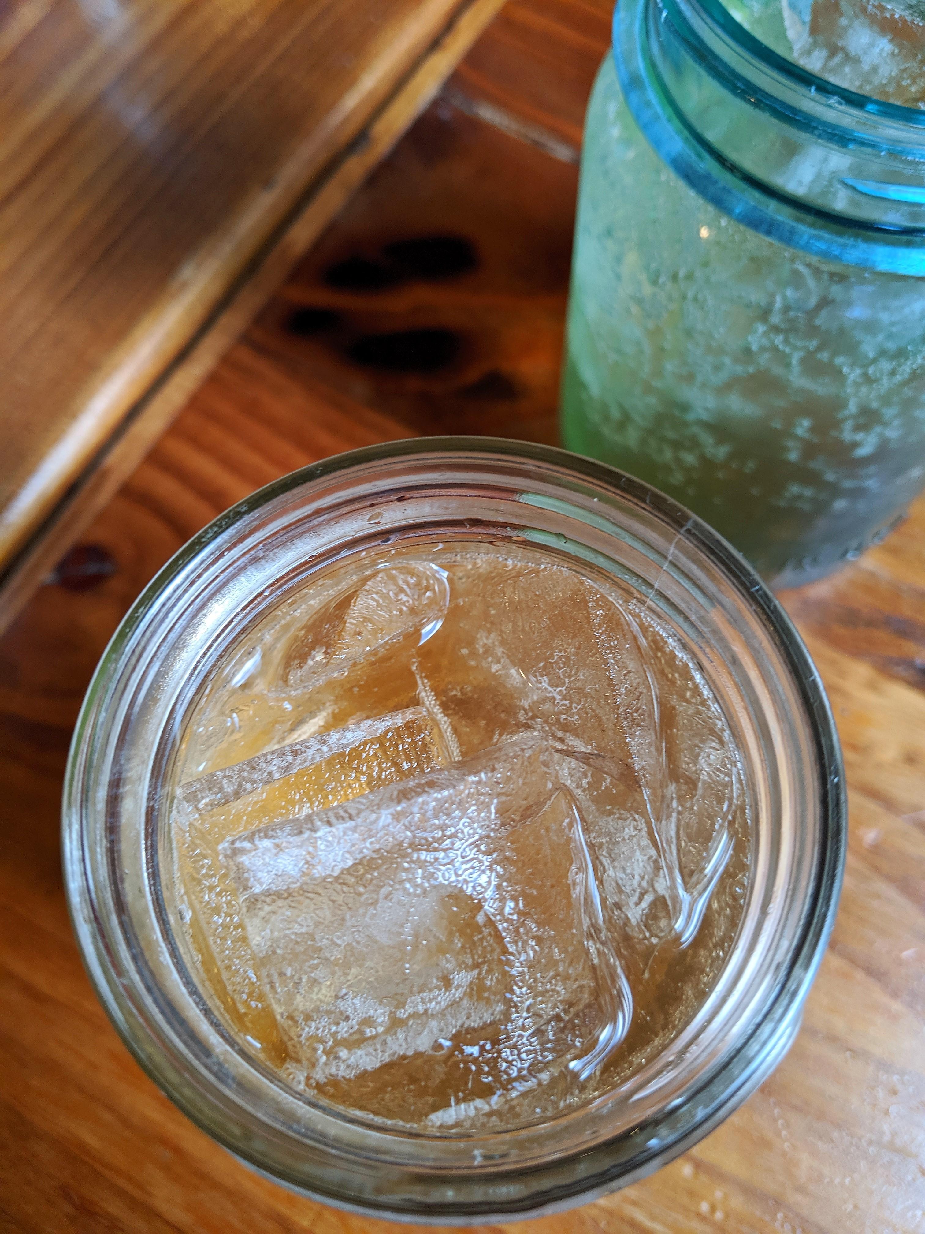 Close up shot of ginger ale