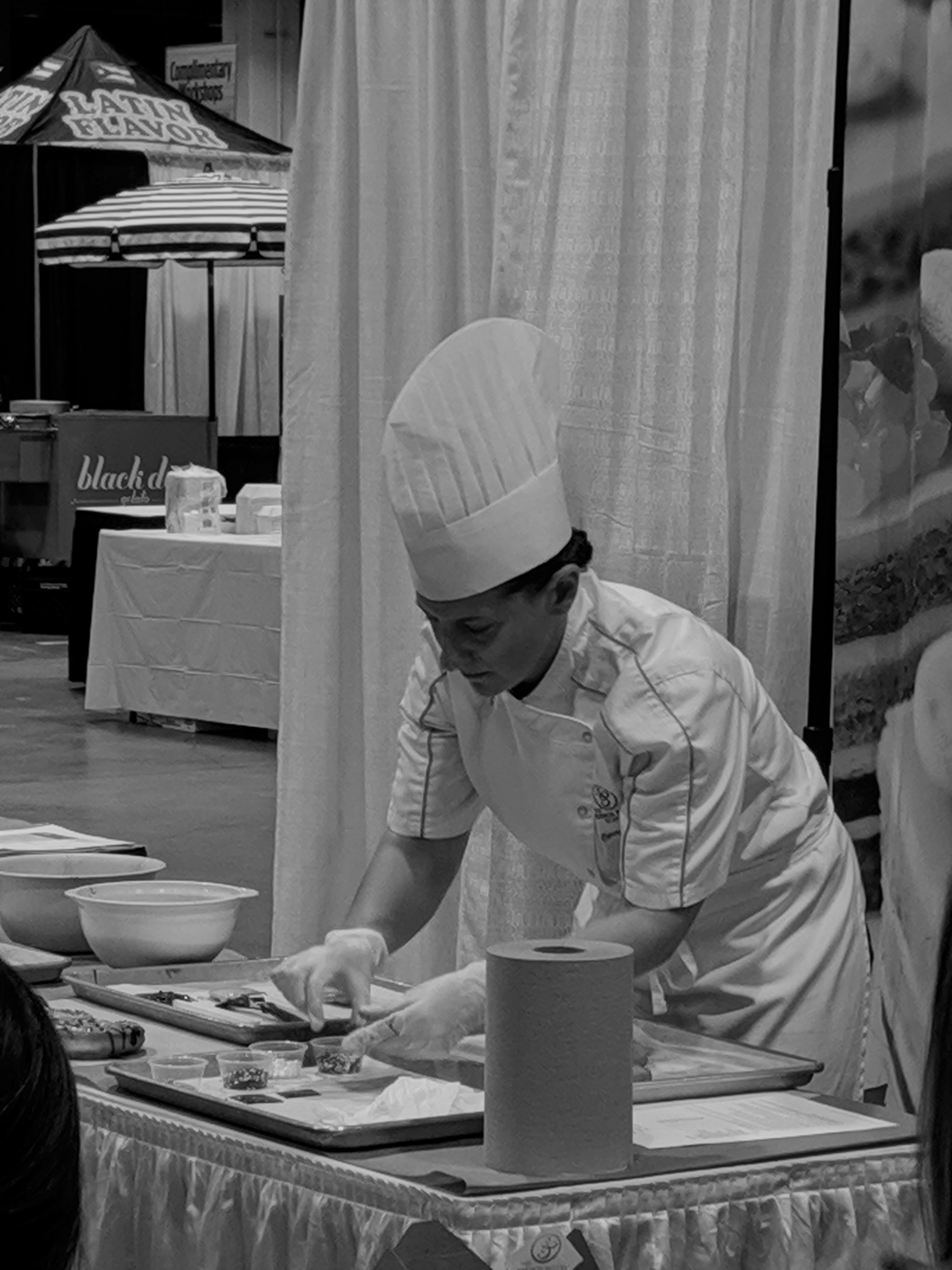 Chef completing a demo at the Great Food Expo