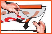 Verklebeanleitung Silikonpapier abziehen