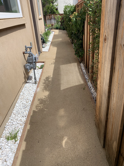 DG Pathway with White pebbles