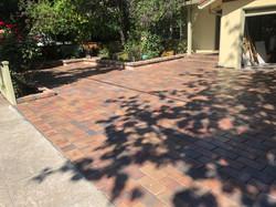 Mission paver driveway