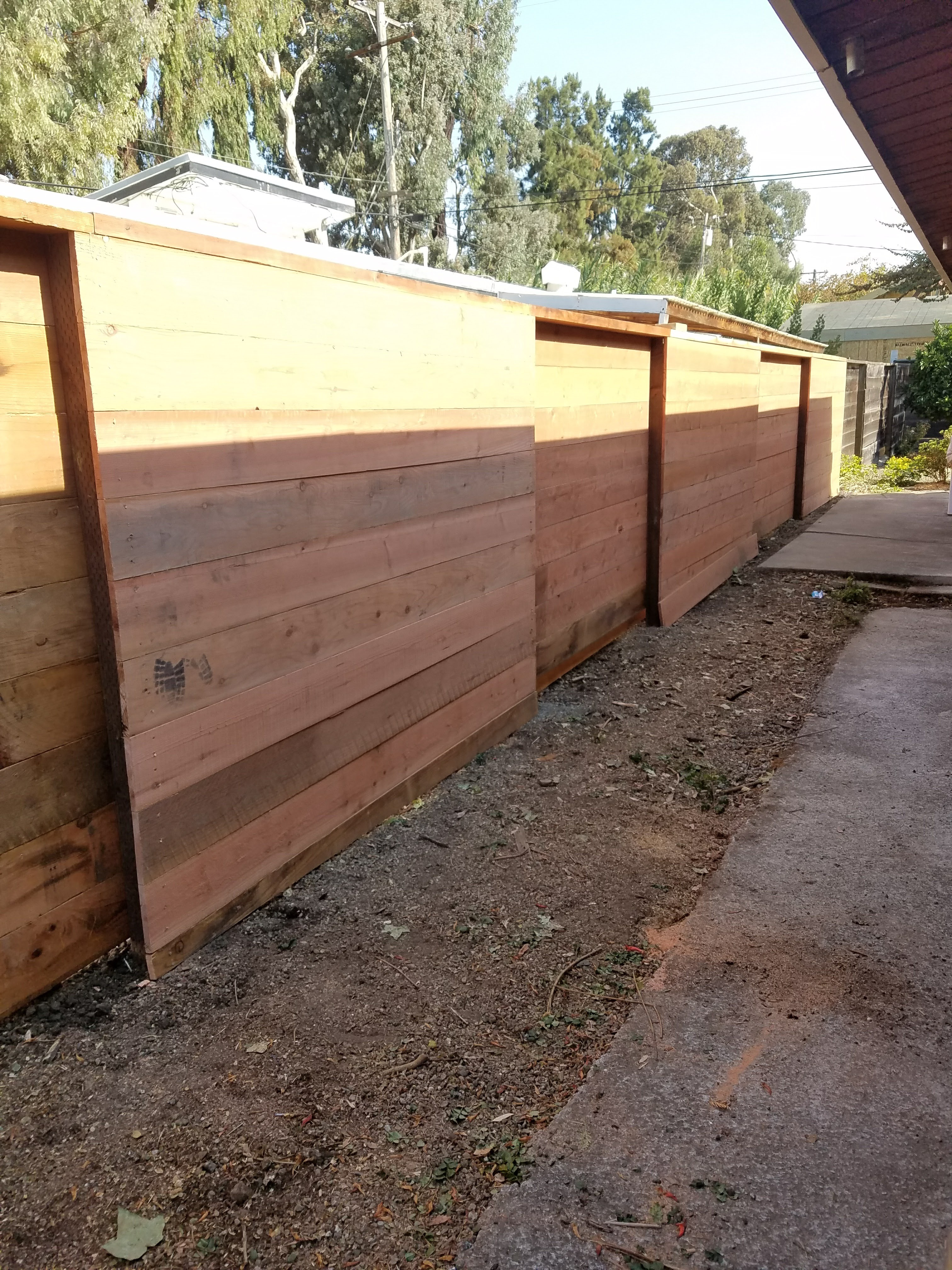 Custom side by side fence
