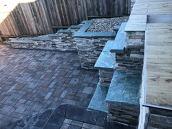 Wall with and mission pavers