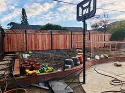 6' board on board fence with lattice