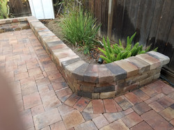 Pavers and wall
