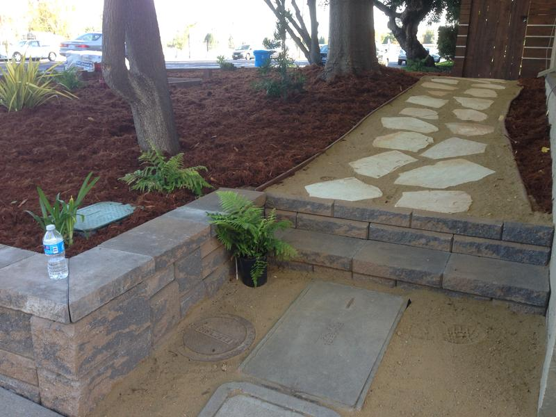 Wall and path