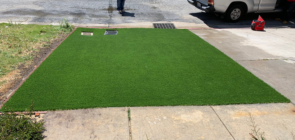 Small Front artificial lawn