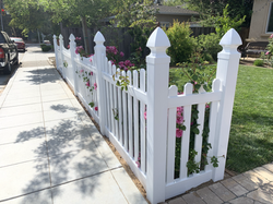 Vinyl decorated top fence