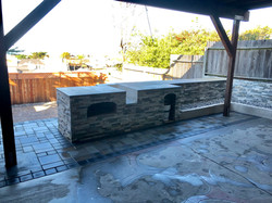 BBQ with hardscape
