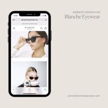 Website Design (iPhone) Blanche Eyewear