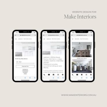 Website Design (iPhone) Make Interiors.j