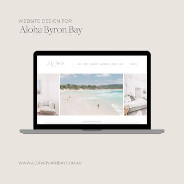 Website Design (Laptop) Aloha Byron Bay.