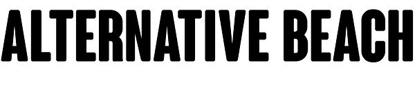 Alternative Beach Logo Horizontal Black.