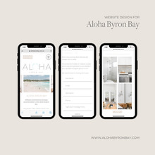 Website Design (iPhone) Aloha Byron Bay.