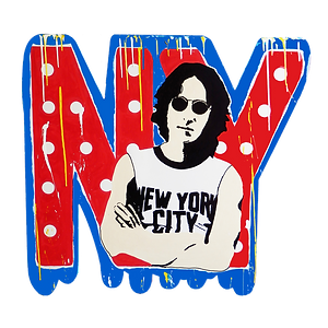 le closier, lennon, pop art, wall sculpture