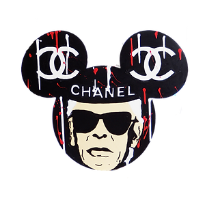 le closier, lagerfeld, chanel, mickey mouse, pop art, wall sculpture