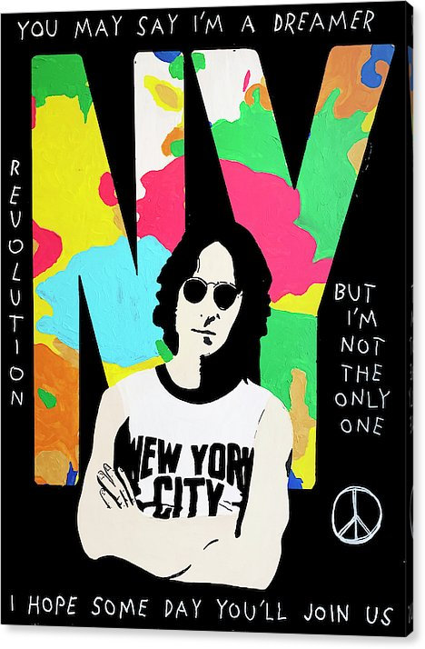 LENNON IN NY - PRINT ON CANVAS