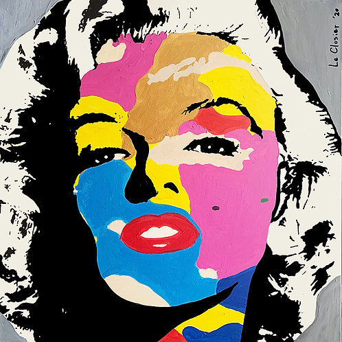 "MARILYN FOREVER - Original painting - 30""x30"""
