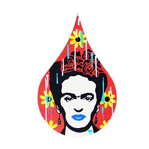 le closier, frida kahlo, pop art, wall sculpture