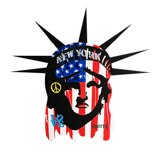 le closier, lady liberty, pop art, wall sculpture