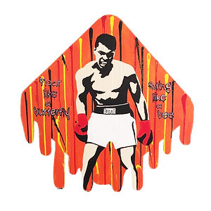 le closier, muhammad ali, cassius clay, pop art, wall sculpture, sting like a bee