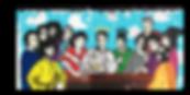 Le Closier, last supper, rock and roll, Sid Vicious, Buddy Holly, Jimi Hendrix, Jim Morrison, Kurt Cobain, Michael Jackson, Elvis Presley, Freddie Mercury, John Lennon, Prince, David Bowie, Amy Winehouse, Ray Charles.