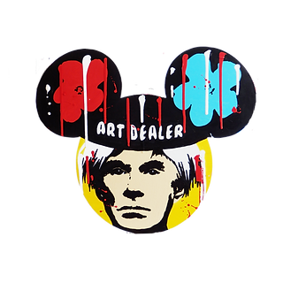 le closier, andy warhol, art dealer, mickey mouse, pop art, wall sculpture