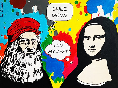 SMILE, MONA! - Original artwork