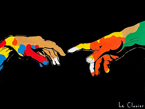 "HAND OF GOD - Original painting - 30""x40"""