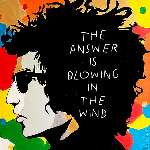 THE ANSWER IS BLOWING IN THE WIND - Original Artwork