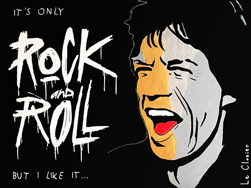 """IT'S ONLY ROCK AND ROLL - Original painting - 30""""x40"""""""